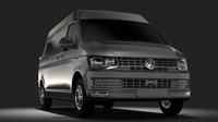 Volkswagen Transporter Van L2H2 T6 2017 3D Model