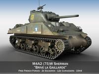 M4A2 Sherman - Brive la Gaillarde 3D Model