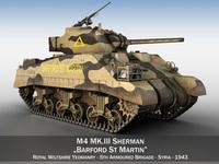 M4 Sherman MK.III - Barford St Martin 3D Model