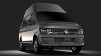 Volkswagen Transporter Van L1H3 T6 2017 3D Model