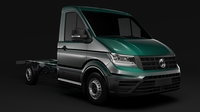 WV Crafter Chassis Single-Cab 2017 3D Model