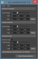 Random Tool for Maya 1.0.0 (maya script)
