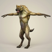 Game Ready Fantasy WereWolf 3D Model