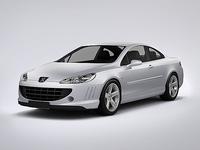 Peugeot 407 Coupe 2013 3D Model