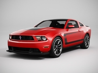 Ford Mustang Boss 302 2012 (LowPoly) 3D Model