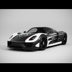 Porsche 918 Spyder 3D Model