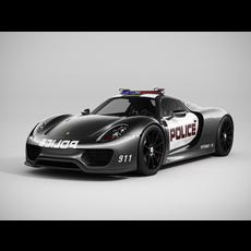 Porsche 918 Spyder Police 3D Model