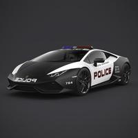 Lamborghini Huracan Police 3D Model