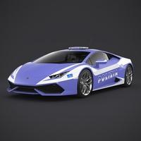 Lamborghini Huracan Italian Police 3D Model