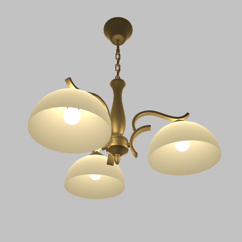 Classical bronze chandelier 3D Model