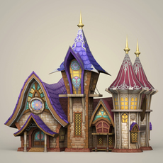Game Ready Fantasy King House 3D Model
