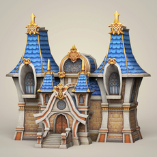 Game Ready Fantasy Church 3D Model