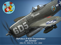Republic P-47 Thunderbolt - Oh Johnnie 3D Model