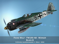 Focke Wulf - FW190 A8 - Black 8 3D Model