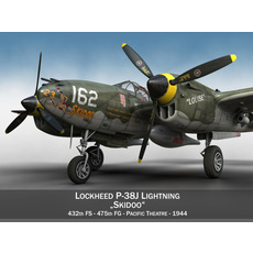 Lockheed P-38 Lightning - Skidoo 3D Model
