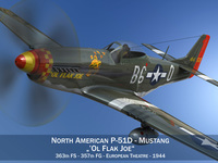 North American P-51D - Ol Flak Joe 3D Model