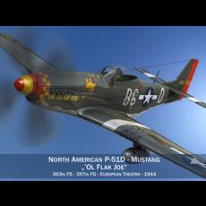 North American P-51D - Ol Flak Joe 3D Model
