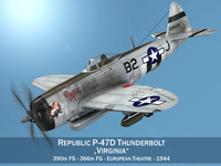 Republic P-47D Thunderbolt - Virginia 3D Model