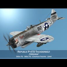 Republic P-47D Thunderbolt - Virginia 3D Model
