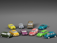 Vehicle Packs cars Nissan 3D Model
