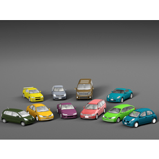 Vehicle Packs cars Nissan 3D Model