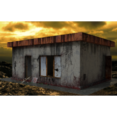 Beer bar in the apocalyptic world 3D Model