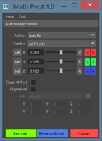 pivot match 1.0.0 for Maya (maya script)