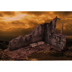 The Corner of the Ruined House 3D Model