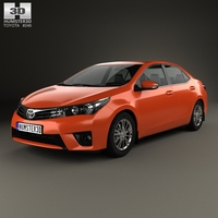 Toyota Corolla Limited 2014 3D Model