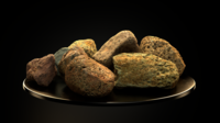 Cool Smooth Stone Pack vol.01 3D Model
