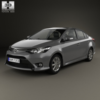 Toyota Yaris SE plus Sport sedan 2014 3D Model
