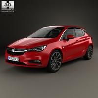 Vauxhall Astra Turbo hatchback 2016 3D Model