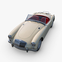 MG MGA Twin-Cam 3D Model