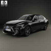 Lexus GS Hybrid 2015 3D Model