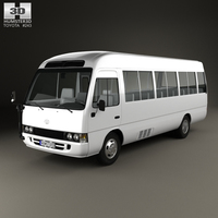 Toyota Coaster with HQ interior 2014 3D Model