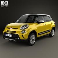 Fiat 500L Trekking 2013 3D Model