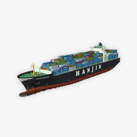 Cargo Ship Hanjin 3D Model