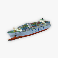 Cargo Ship COSCO 3D Model