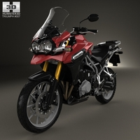 Triumph Tiger Explorer 2015 3D Model