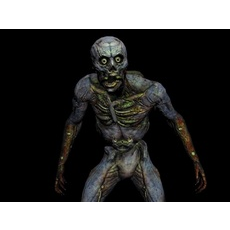 Creeper Animated 3D Model
