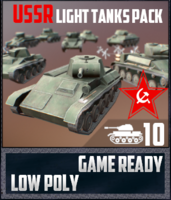 USSR Toon Light Tanks 3D Model