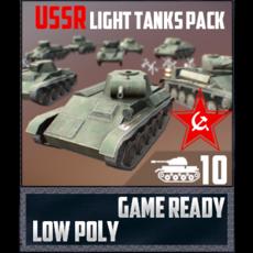 USSR Toon Light Tanks 3D Model