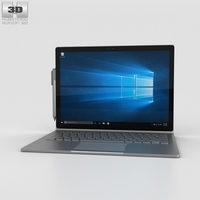 Microsoft Surface Book 3D Model