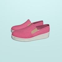 Pink loafers 3D Model