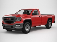 2018 GMC Sierra 1500 Regular Cab 3D Model