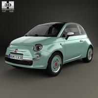 Fiat 500 C San Remo 2014 3D Model