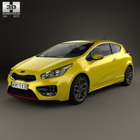 Kia Pro Ceed GT hatchback 3-door 2015 3D Model