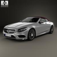 Mercedes-Benz S-class AMG Line cabriolet 2014 3D Model
