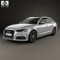 Audi A6 (C7) avant 2015 3D Model