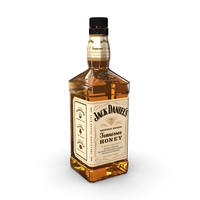 Jack Daniels Honey 70cl Bottle 3D Model